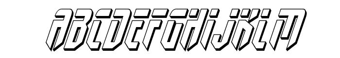 Fedyral II 3D Italic Font UPPERCASE