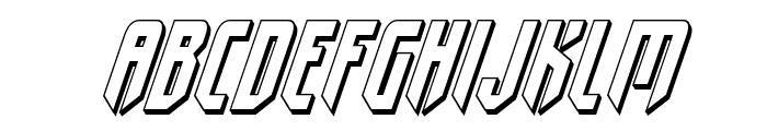Fedyral II 3D Italic Font LOWERCASE