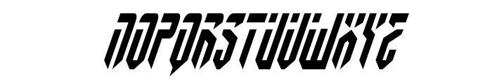 Fedyral II Condensed Italic Font UPPERCASE