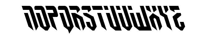 Fedyral II Leftalic Font UPPERCASE