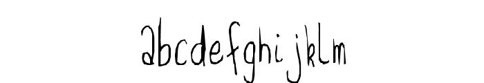 Feeble minded Font LOWERCASE