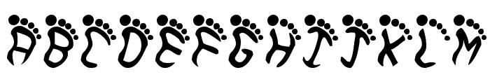 Feetish Font UPPERCASE