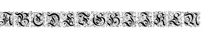Feinsliebchen Barock Regular Font UPPERCASE