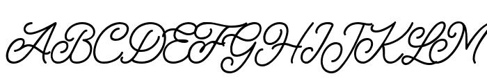 Felician Demo Regular Font UPPERCASE