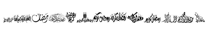 Felicitation Arabic_Ramadan Font LOWERCASE
