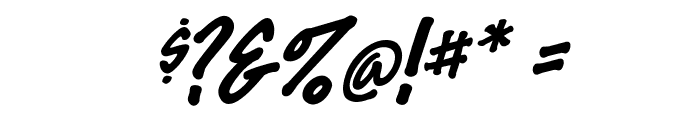 FeltMark-Italic Font OTHER CHARS