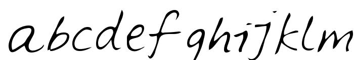 Feltpen Font LOWERCASE