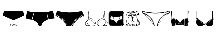 Female Underwear Font OTHER CHARS