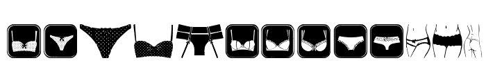 Female Underwear Font UPPERCASE