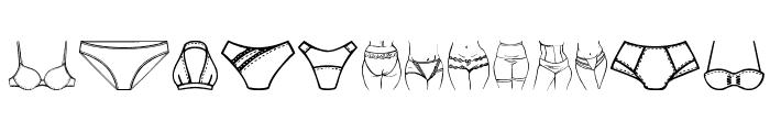 Female Underwear Font LOWERCASE