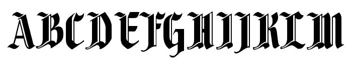 Fenwick Woodtype Font UPPERCASE
