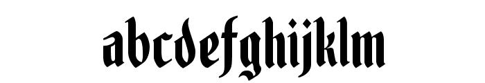 Fenwick Woodtype Font LOWERCASE