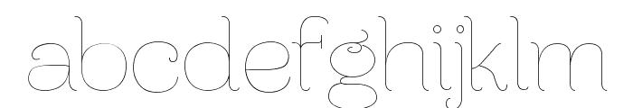 Ferrica-Light Font LOWERCASE