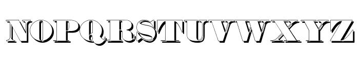 Fette Bauersche Antiqua Shaddow  UNZ Pro Font UPPERCASE