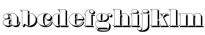 Fette Bauersche Antiqua Shaddow  UNZ Pro Font LOWERCASE