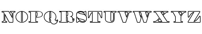 Fette Bauersche Antiqua UNZ Pro Hollow Font UPPERCASE