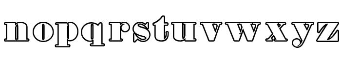Fette Bauersche Antiqua UNZ Pro Hollow Font LOWERCASE