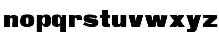 Fette Steinschrift Font LOWERCASE
