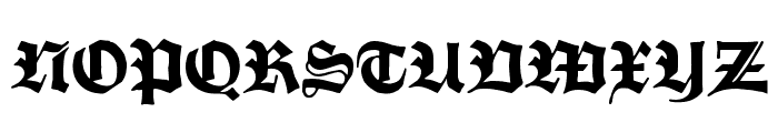 Fette Trump-Deutsch Font UPPERCASE