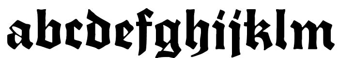 Fette Trump-Deutsch Font LOWERCASE