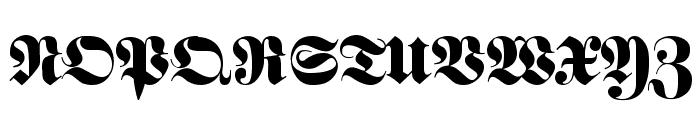 Fette classic UNZ Fraktur Font UPPERCASE