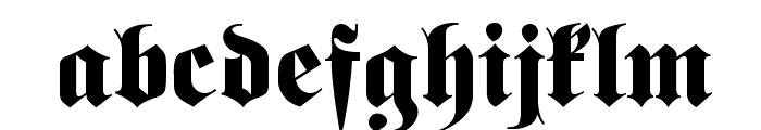 Fette classic UNZ Fraktur Font LOWERCASE