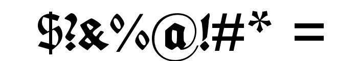 Fette deutsche Schrift Font OTHER CHARS