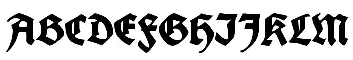 Fette deutsche Schrift Font UPPERCASE
