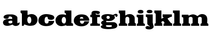 FetteEgyptienne Font LOWERCASE