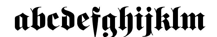 FetteFraktur Font LOWERCASE