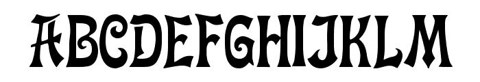 FetteMikado Font UPPERCASE