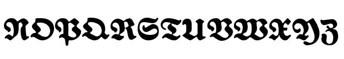 FetteNationalFraktur Font UPPERCASE