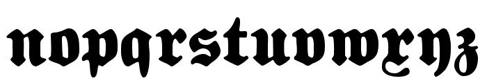 FetteNationalFraktur Font LOWERCASE