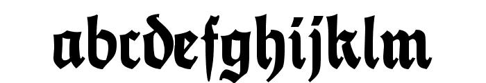 FetteThannhaeuser UNZ1 Font LOWERCASE
