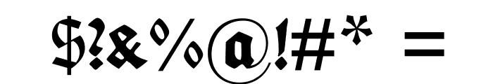 FettedeutscheSchrift Font OTHER CHARS