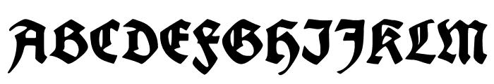 FettedeutscheSchrift Font UPPERCASE
