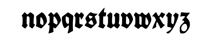 FettedeutscheSchrift Font LOWERCASE