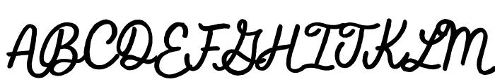 Feel Real Font UPPERCASE