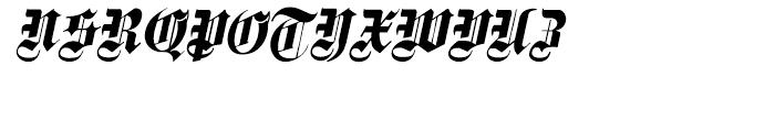 Fette Gotisch e Maiuskel Italic Font UPPERCASE