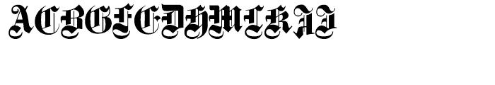 Fette Gotisch e Maiuskel Shadow  Handtooled Font UPPERCASE