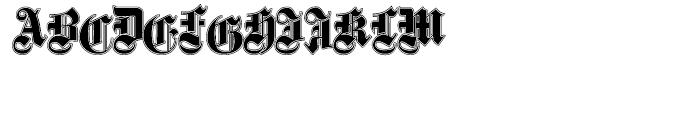 Fette Gotisch e Maiuskel Shadow  Handtooled Font LOWERCASE