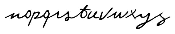 Federico Handwriting Regular Font LOWERCASE