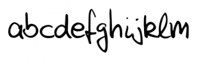 Feliks Handwriting Regular Font LOWERCASE