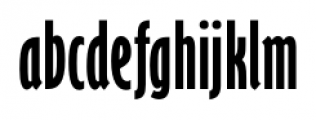 Felton Compressed Font LOWERCASE