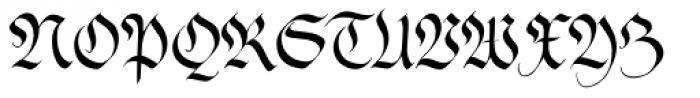 Feder Fraktur EF Regular Dfr Font UPPERCASE