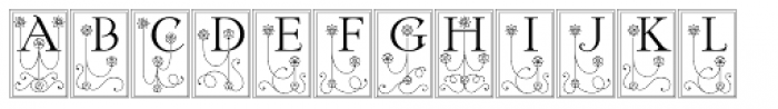 Federlyn Initials NF Font LOWERCASE