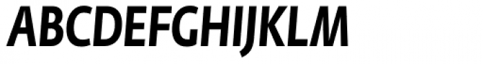 Fedra Sans Cond Pro Bold Italic Font UPPERCASE