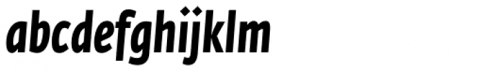Fedra Sans Cond Pro Bold Italic Font LOWERCASE
