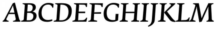 Fedra Serif B Normal Italic Font UPPERCASE