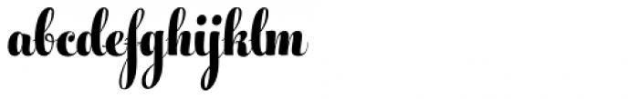 Feel Script Black Font LOWERCASE
